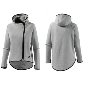 Nike Tech Fleece Cape Hoodie - Heathered Gray